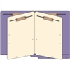 Classification Folders, End Tab, Letter, 2 Div, 14pt Purple, 25/Bx