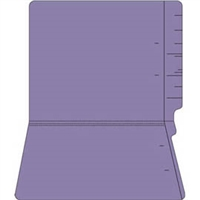 "Colored Folders, End Tab, Letter Size, 3/4"" Exp, No Fasteners, 14pt Purple, 50/Box"