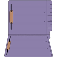 "Colored Folders, End Tab, Letter Size, 3/4"" Exp, Fastener Pos 1/3, 14pt Purple, 50/Box"