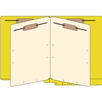Classification Folders, End Tab, Letter, 2 Div, 14pt Goldenrod, 25/Bx