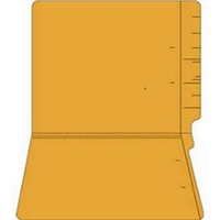 "Colored Folders, End Tab, Letter Size, 3/4"" Exp, No Fasteners, 14pt Goldenrod, 50/Box"
