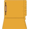 "Colored Folders, End Tab, Letter Size, 3/4"" Exp, Fastener Pos 1, 14pt Goldenrod, 50/Box"