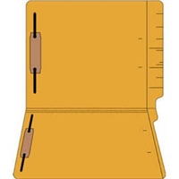 "Colored Folders, End Tab, Letter Size, 3/4"" Exp, Fastener Pos 1/3, 14pt Goldenrod, 50/Box"