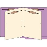 Classification Folders, End Tab, Letter, 2 Div, 14pt Lavender, 25/Bx