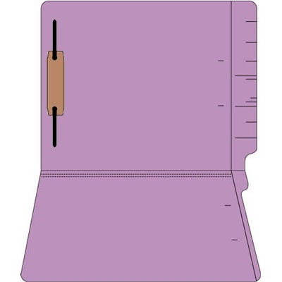 "Colored Folders, End Tab, Letter Size, 3/4"" Exp, Fastener Pos 1, 14pt Lavender, 50/Box"