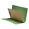 "Classification Folders, End Tab, Letter Size, 3/4"" Exp, 4 Fasteners, 1 Divider, 11pt Green, 25/Bx"