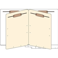 Classification Folders, End Tab, Letter, 2 Div, 14pt White, 25/Bx