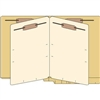Classification Folders, End Tab, Letter, 2 Div, 14pt Tan, 25/Bx