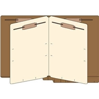 Classification Folders, End Tab, Letter, 2 Div, 14pt Brown, 25/Bx