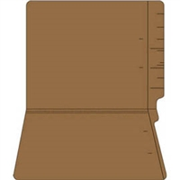 "Colored Folders, End Tab, Letter Size, 3/4"" Exp, No Fasteners, 14pt Brown, 50/Box"