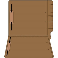 "Colored Folders, End Tab, Letter Size, 3/4"" Exp, Fastener Pos 1/3, 14pt Brown, 50/Box"