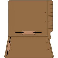 "Colored Folders, End Tab, Letter Size, 3/4"" Exp, Fastener Pos 3/5, 14pt Brown, 50/Box"