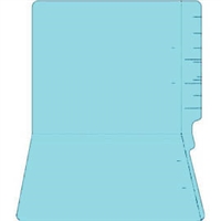 "Colored Folders, End Tab, Letter Size, 3/4"" Exp, No Fasteners, 14pt Lt. Blue, 50/Box"
