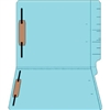 "Colored Folders, End Tab, Letter Size, 3/4"" Exp, Fastener Pos 1/3, 14pt Lt. Blue, 50/Box"