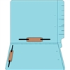 "Colored Folders, End Tab, Letter Size, 3/4"" Exp, Fastener Pos 3/5, 14pt Lt. Blue, 50/Box"