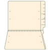 "Manila End Tab Folders, Letter Size, 14pt, 3/4"" Exp, No Fastener, 50/Box"