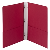 Smead Red Two-Pocket Folders w/ Tang Strip Fastener (88059)