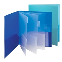 Smead 10-Pocket Subject Folder, Letter Size, Assorted Colors, 2-pack (89204)
