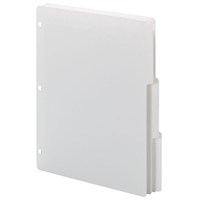 Smead Three-Ring Binder Index Dividers, 1/3-Cut Tabs, Letter Size, White, 25 Sets/Bx (89413)
