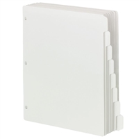Smead Three-Ring Binder Index Dividers 1/8-Cut Tabs (89418)