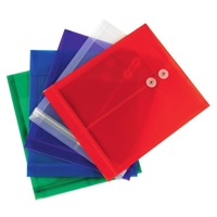 Smead Poly Envelope Letter Size Assorted Colors 5/Pack (89501)