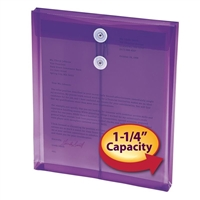 "Smead Poly Envelope 1-1/4"" Expansion Purple 5-Pack (89544)"