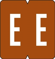 GBS (VRE) Alpha Label Letter E 500/Roll
