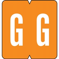 GBS (VRE) Alpha Label Letter G 500/Roll