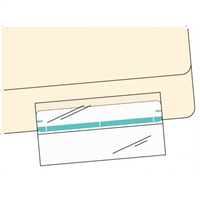 "Mylar Folder & Label Protector 2"" x 4"", 100/Pack"