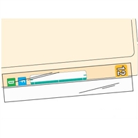 Label & File Folder Protectors, 2 x 8, 100/PK