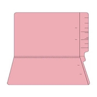 "Colored Folders, End Tab, Legal Size, 3/4"" Exp, No Fasteners, 11pt Pink, 100/Box"