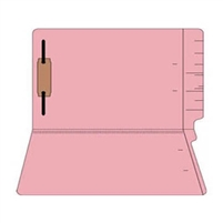 "Colored Folders, End Tab, Legal Size, 3/4"" Exp, Fastener Pos 1, 11pt Pink, 50/Box"