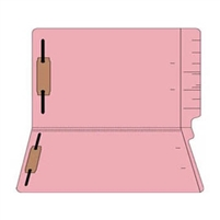 "Colored Folders, End Tab, Legal Size, 3/4"" Exp, Fasteners Pos 1/3, 11pt Pink, 50/Box"