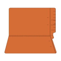 "Colored Folders, End Tab, Legal Size, 3/4"" Exp, No Fasteners, 11pt Orange, 100/Box"