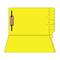 "Colored Folders, End Tab, Legal Size, 3/4"" Exp, Fastener Pos 1, 11pt Yellow, 50/Box"