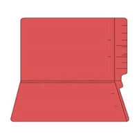"Colored Folders, End Tab, Legal Size, 3/4"" Exp, No Fasteners, 11pt Red, 100/Box"