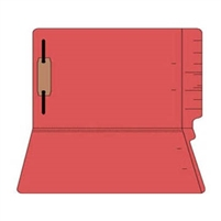 "Colored Folders, End Tab, Legal Size, 3/4"" Exp, Fastener Pos 1, 11pt Red, 50/Box"
