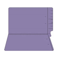 "Colored Folders, End Tab, Legal Size, 3/4"" Exp, No Fasteners, 11pt Purple, 100/Box"