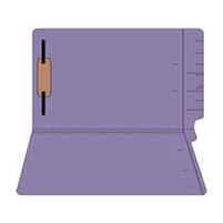 "Colored Folders, End Tab, Legal Size, 3/4"" Exp, Fastener Pos 1, 11pt Purple, 50/Box"