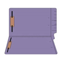 "Colored Folders, End Tab, Legal Size, 3/4"" Exp, Fasteners Pos 1/3, 11pt Purple, 50/Box"