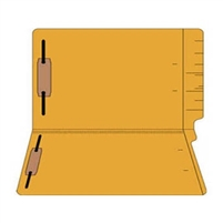 "Colored Folders, End Tab, Legal Size, 3/4"" Exp, Fasteners Pos 1/3, 11pt Goldenrod, 50/Box"