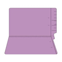 "Colored Folders, End Tab, Legal Size, 3/4"" Exp, No Fasteners, 11pt Lavender, 100/Box"