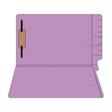 "Colored Folders, End Tab, Legal Size, 3/4"" Exp, Fastener Pos 1, 11pt Lavender, 50/Box"