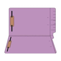 "Colored Folders, End Tab, Legal Size, 3/4"" Exp, Fasteners Pos 1/3, 11pt Lavender, 50/Box"