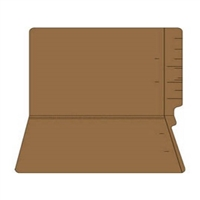 "Colored Folders, End Tab, Legal Size, 3/4"" Exp, No Fasteners, 11pt Brown, 100/Box"