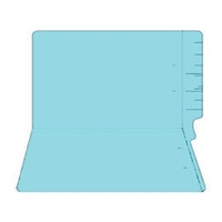 "Colored Folders, End Tab, Legal Size, 3/4"" Exp, No Fasteners, 11pt Lt. Blue, 100/Box"