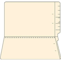 "End Tab Folders, Legal Size, 3/4"" Exp, No Fasteners, 11pt Manila, 100/Box"