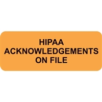 HIPAA Acknowledgements on File, Fluorescent Orange (A1000)
