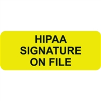 HIPAA Signature, Fluorescent Chartreuse (A1002)