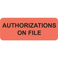 Authorizations On File, Fluorescent Red (A1004)